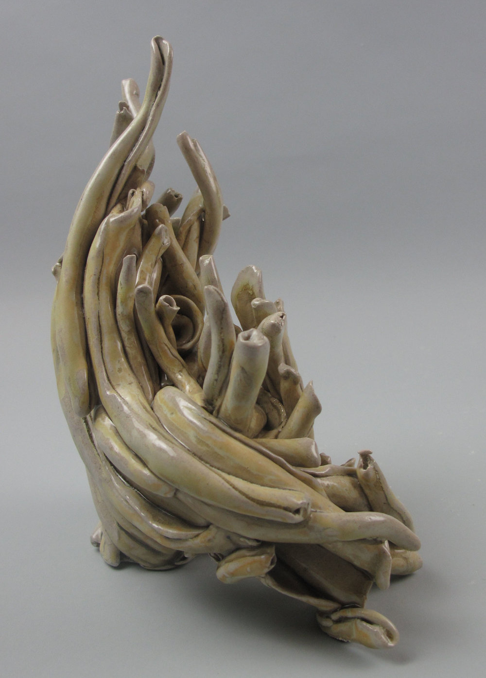 Sara Fine-Wilson,  Poodle , Stoneware, soda-fired, 6x6x5,