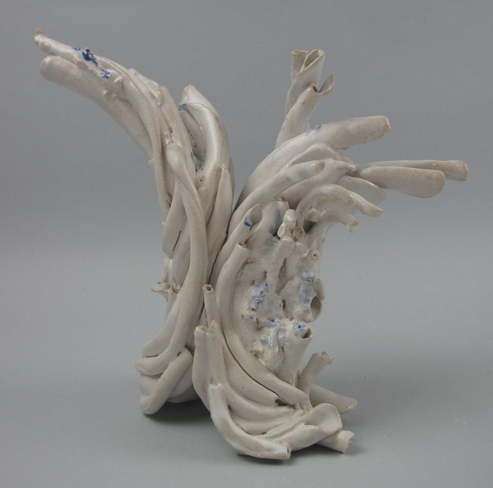 Sara Fine-Wilson,  Pull , Stoneware, soda-fired, 9x6x4