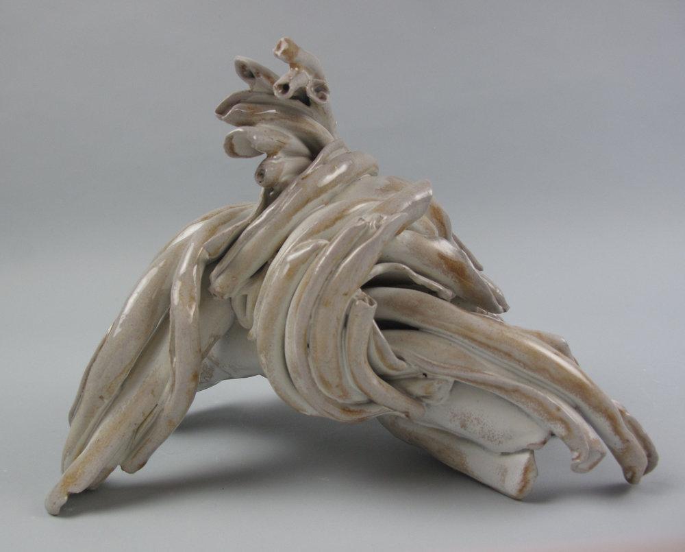 Sara Fine-Wilson,  Spin , Stoneware, soda-fired, 6x8x8