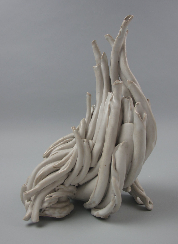 Sara Fine-Wilson,  Turn , Stoneware, soda-fired, 9x8x6