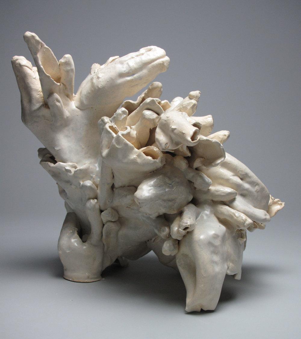 Sara Fine-Wilson,  Wrangle , Stoneware, 16x14x8