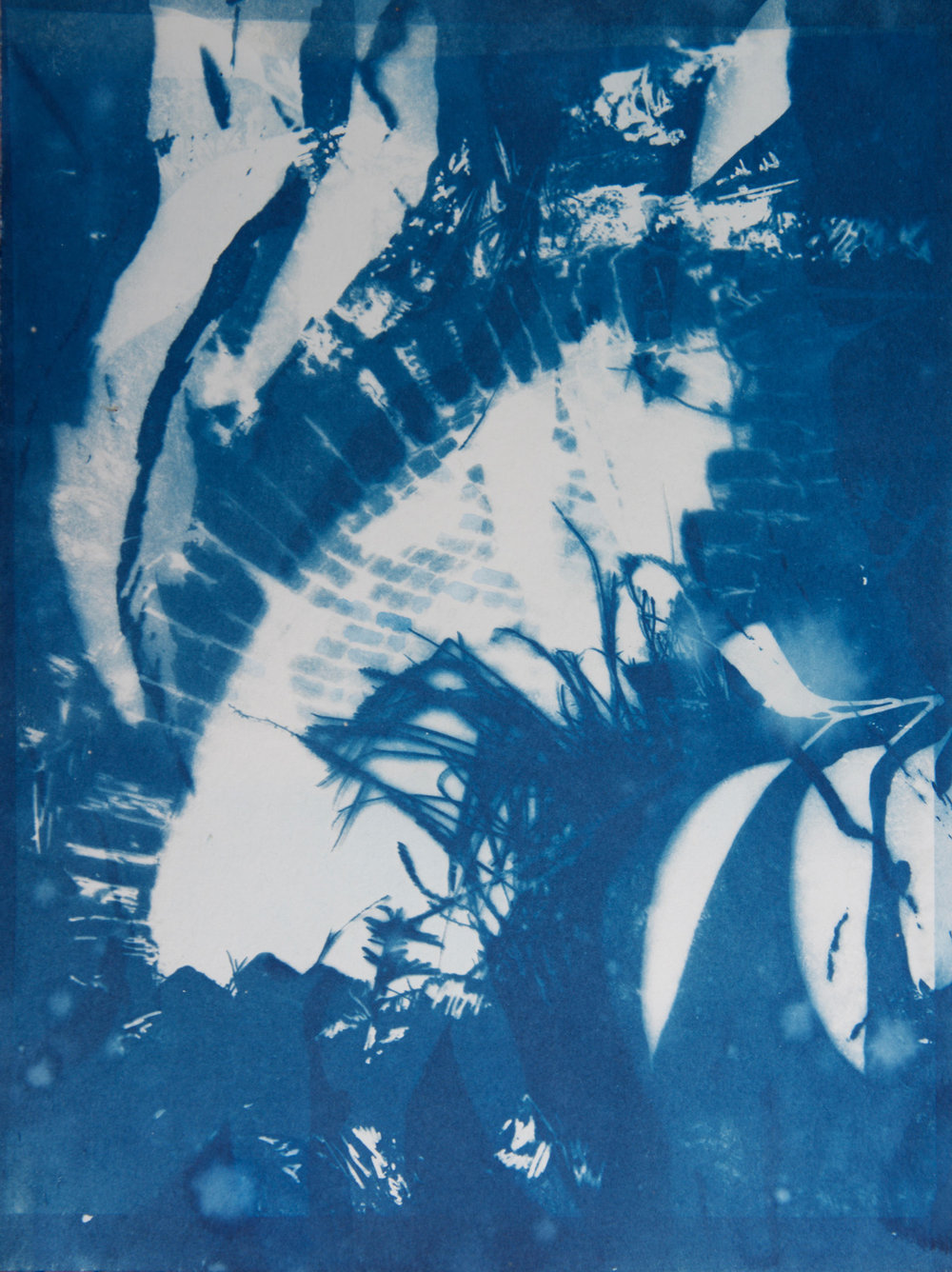 Marie Craig,  Newness Oven 2 , cyanotype on paper, 12x9