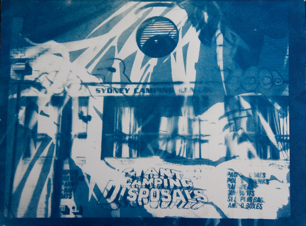 Giant 3,cyanotype on paper, 9 x 12 in.