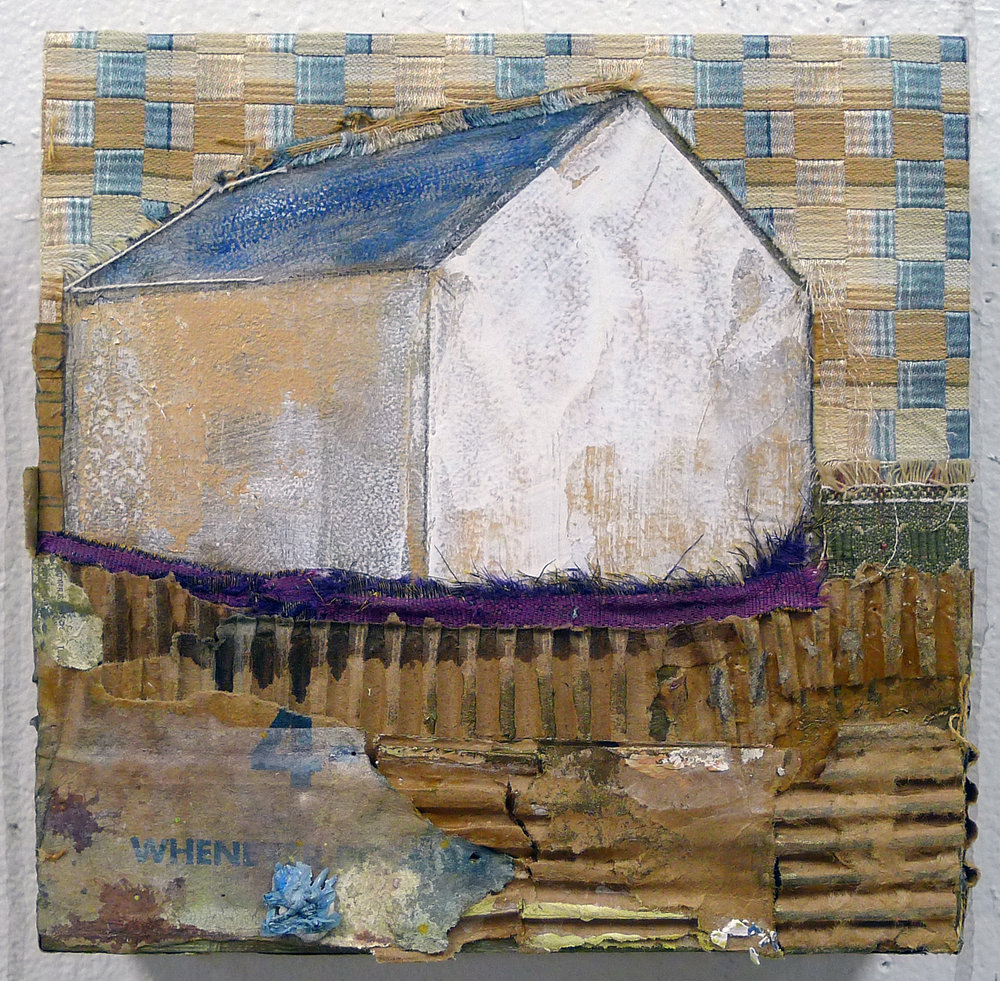 Brenda Cirioni,  Barn Series: Whenever,  Mixed media painting, 8x8