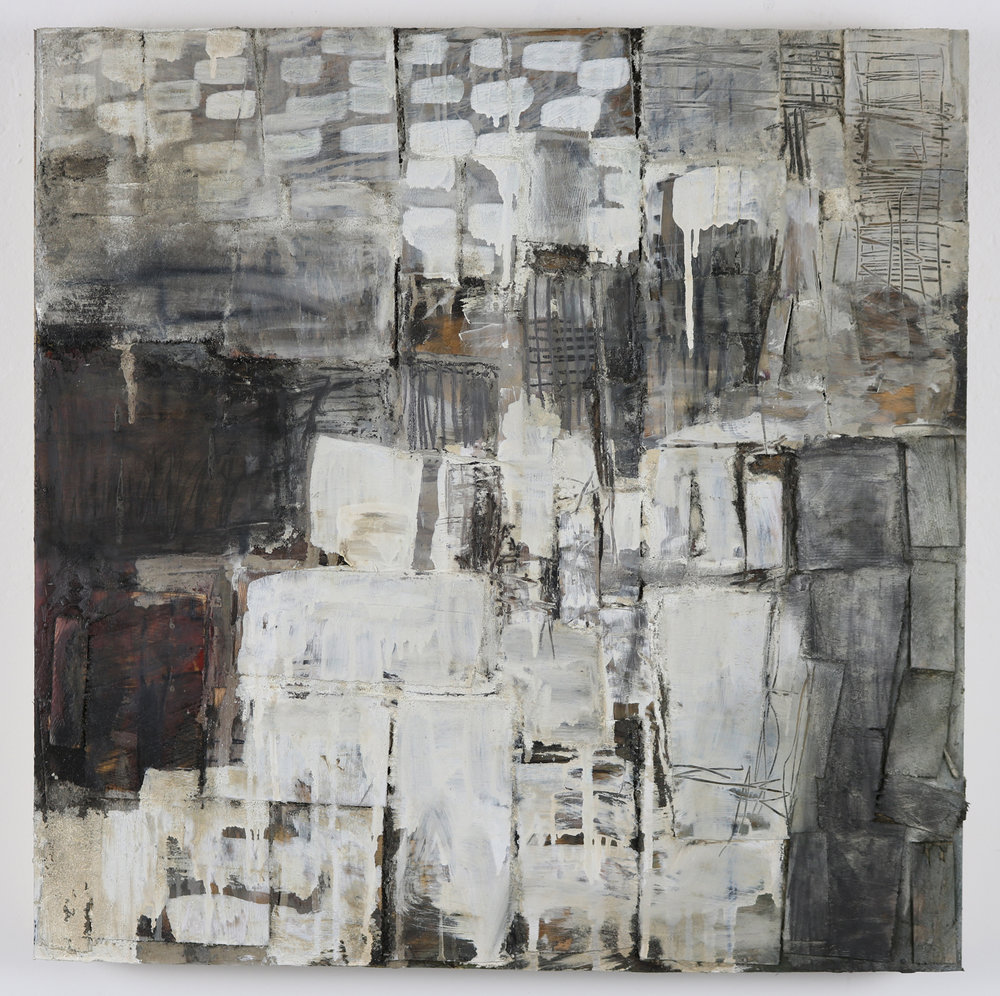 Leslie Zelamsky,  Dwelling IV , Mixed media, 24x24
