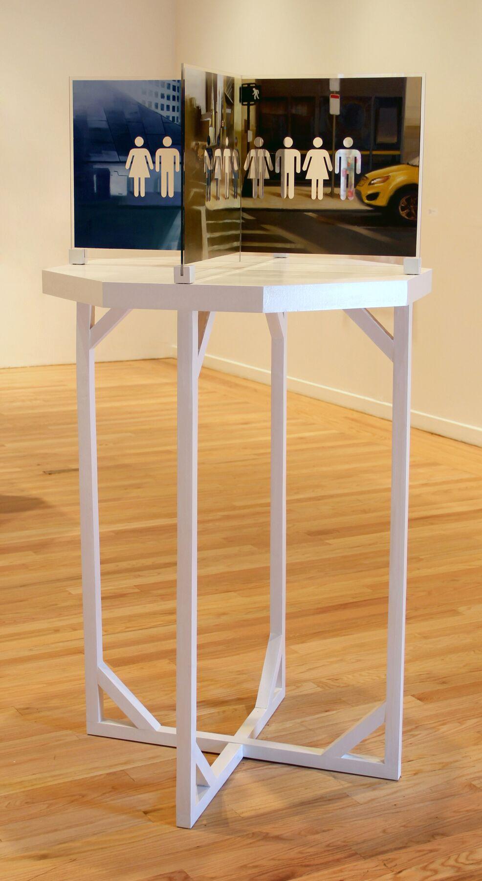 Sammy Chong, Endless , mixed media on plexiglass,36 x 36 x 72,$5,800