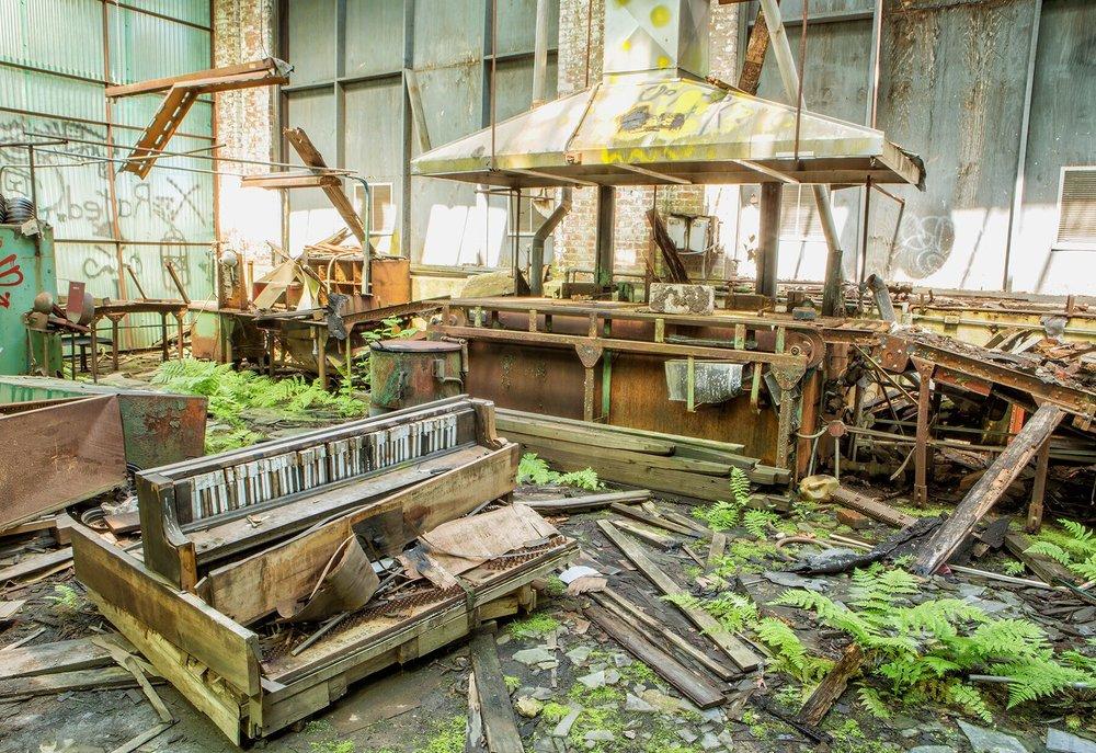 Rebecca Skinner, Urban Decay , photograph on aluminum,24 x 16,$625