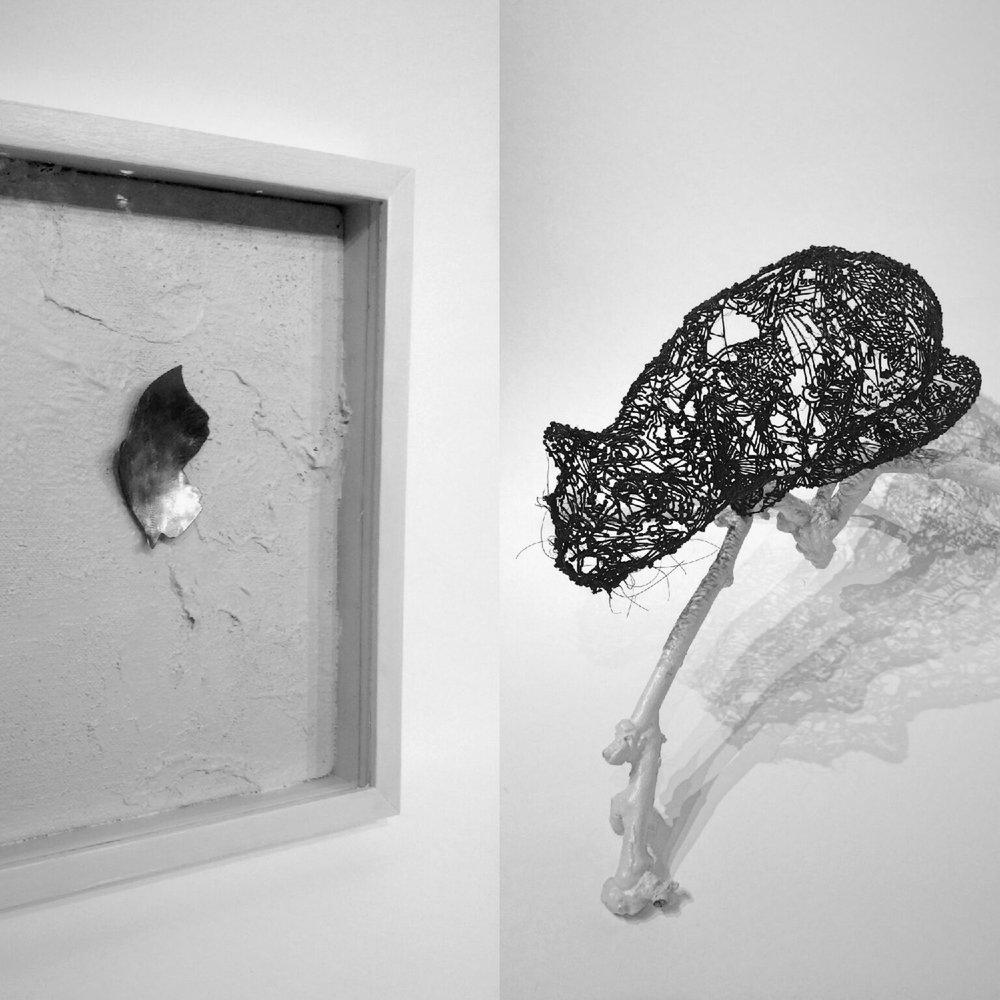 Karin Eda Sanborn, Schrödinger's Cat ,PLA resin, steel and wood,$800