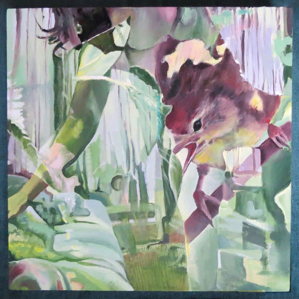 Ardea Thurston-Shaine, Entrance ,oil on wood panel,12 x12,$1,000