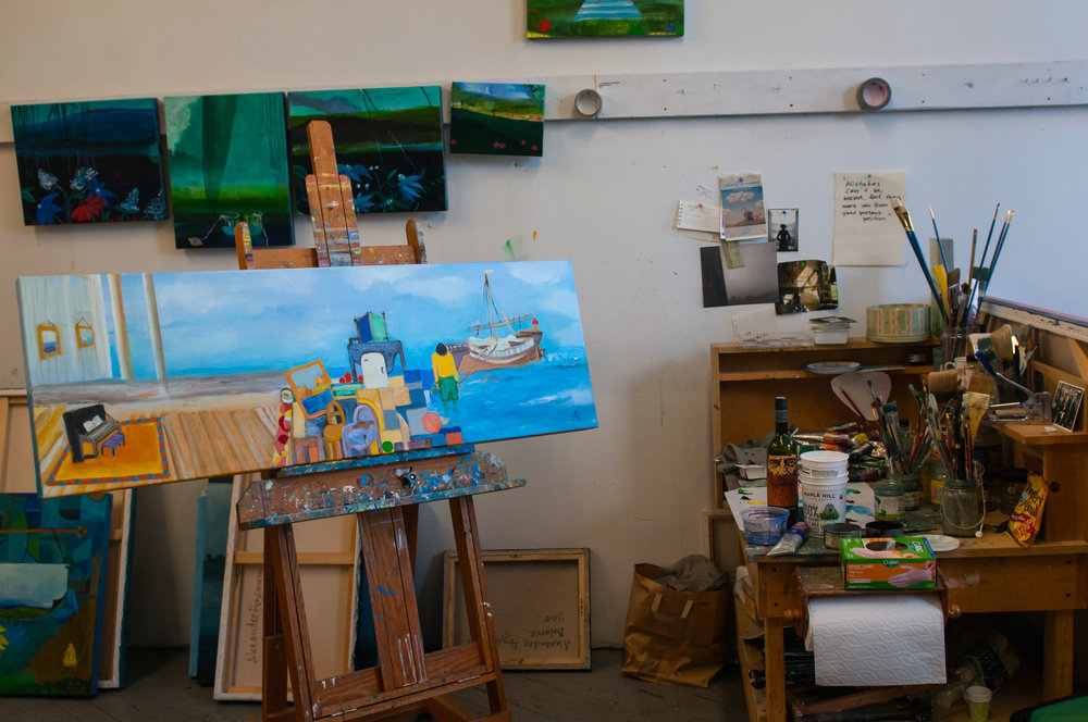 """Studio Shot """"Moving on with Repin"""" on easel by Alexandra Rozenman"""