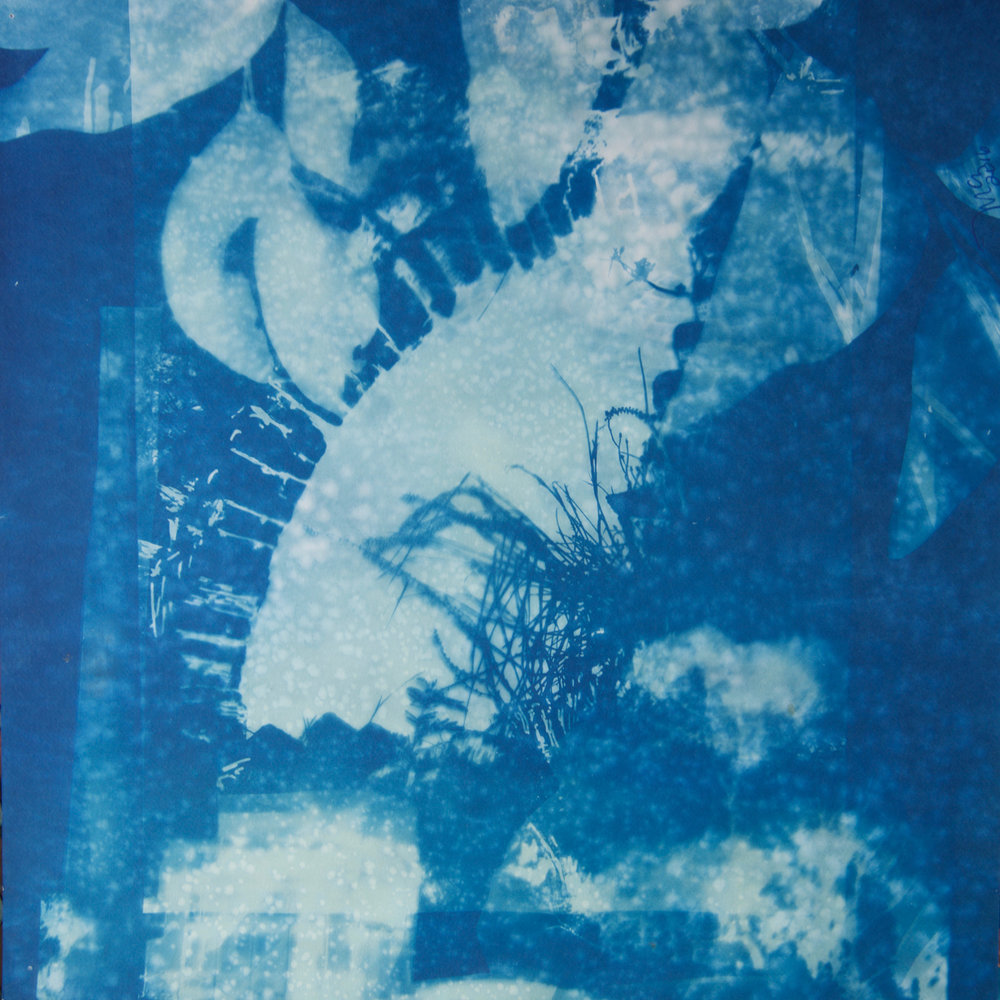 "Marie Craig,  Newnes Oven 3 , cyanotype on paper, 18"" x 18"""