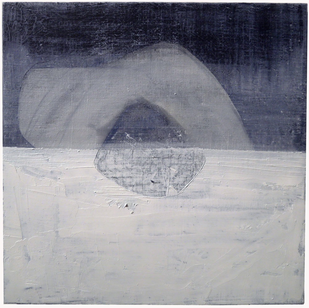Kathline Carr,  Embedded in Ice,   Oil and graphite on linen, 19x19