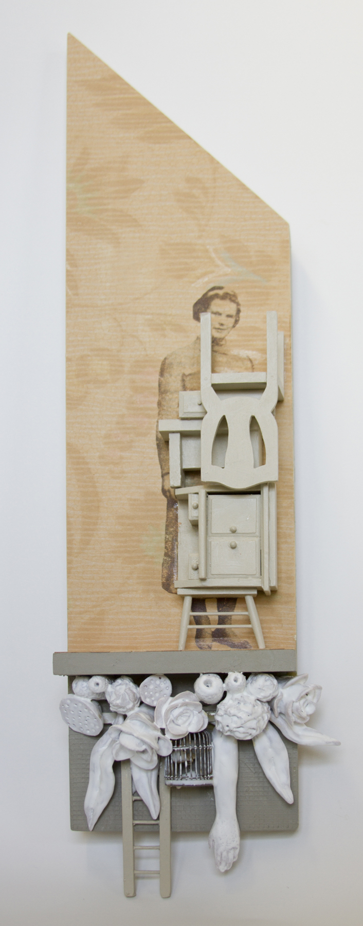Chelsea Revelle,  Ayer: Hidden Mother Series,  Assemblage,   21x6x3