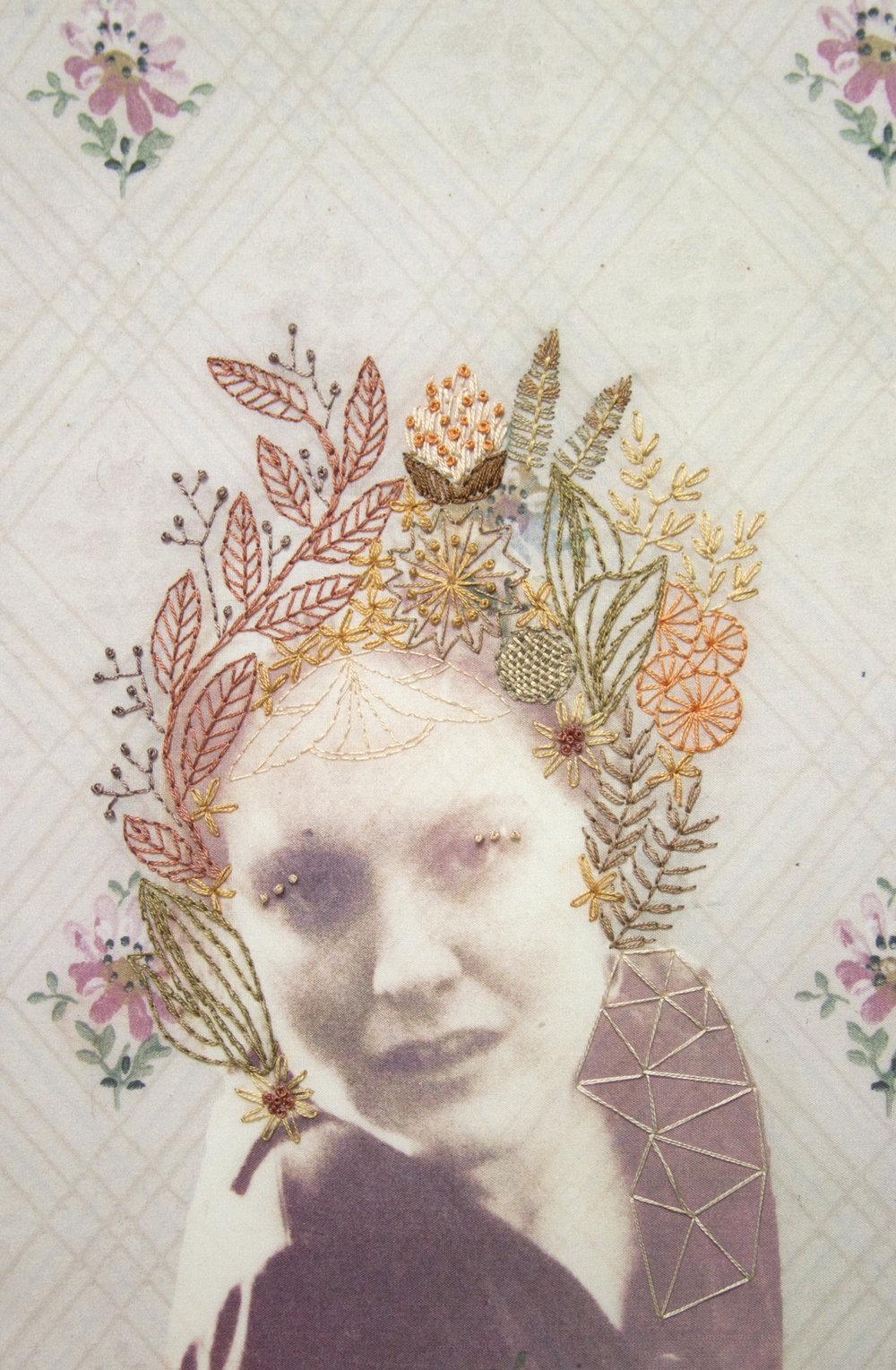 Chelsea Revelle,  Carlotta:  Fiber art, 12x18