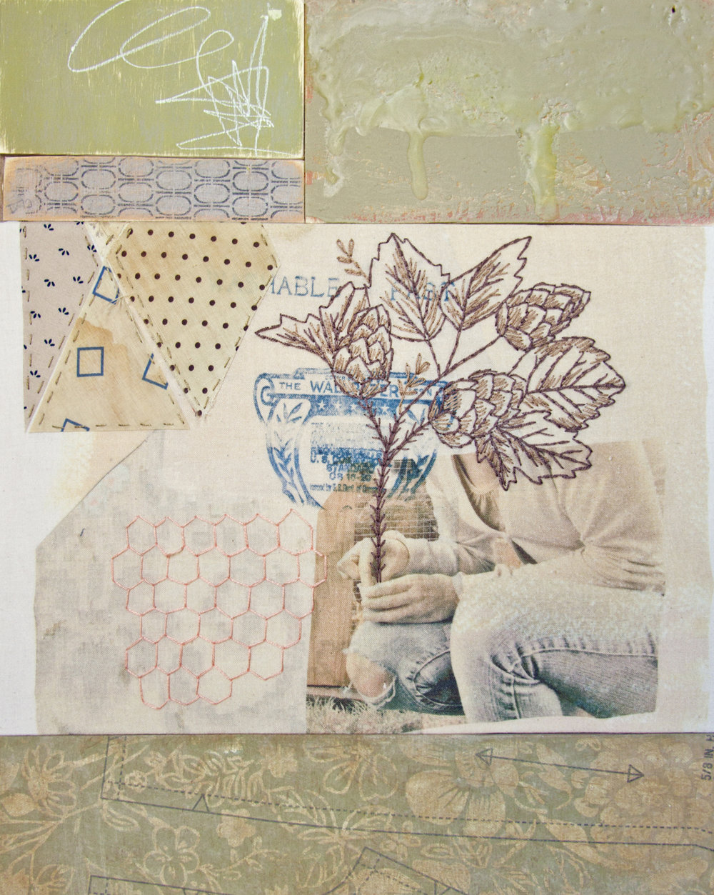 Chelsea Revelle,  Clifton: From Memory Series,  Assemblage, 13x15.5