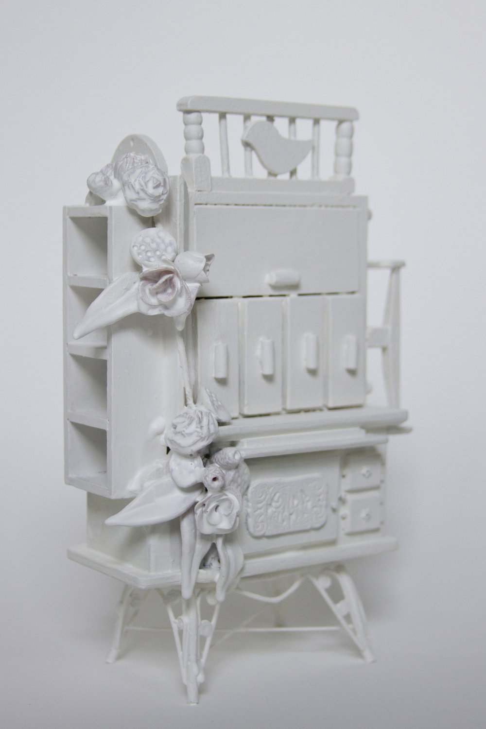 Chelsea Revelle,  Den of Antiquity: Fragility of Silence Series,  Dollhouse assemblage, 8x5x2.5