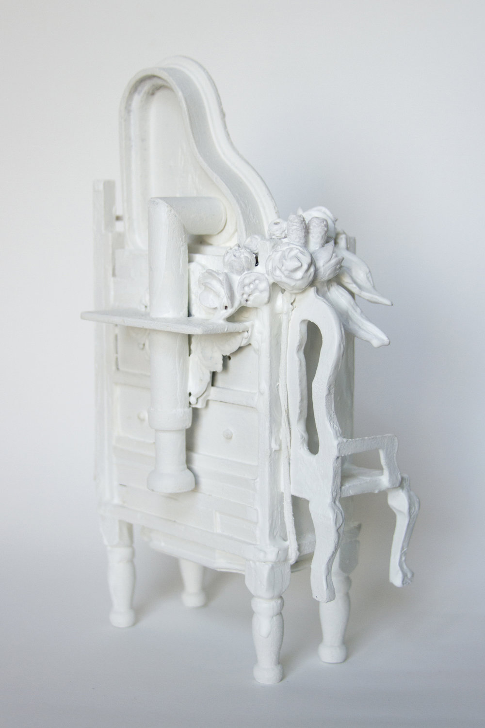 Chelsea Revelle,  Flight of Fancy: Fragility of Silence Series,  Dollhouse assemblage, 8x5x3