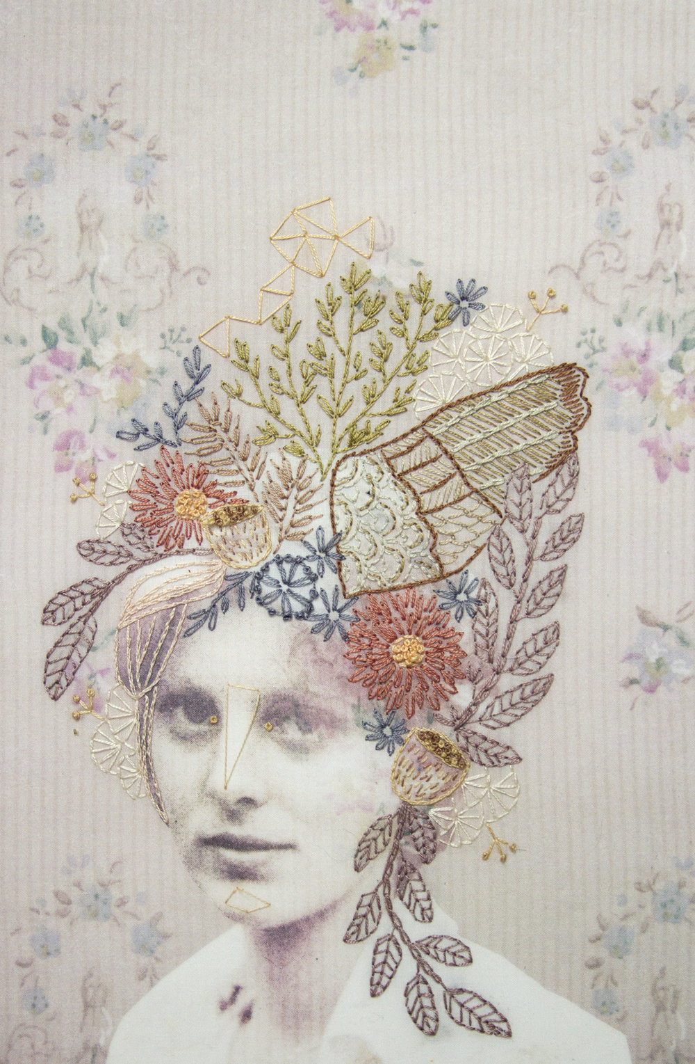 Chelsea Revelle,  Mildred:  Fiber art, 12x18