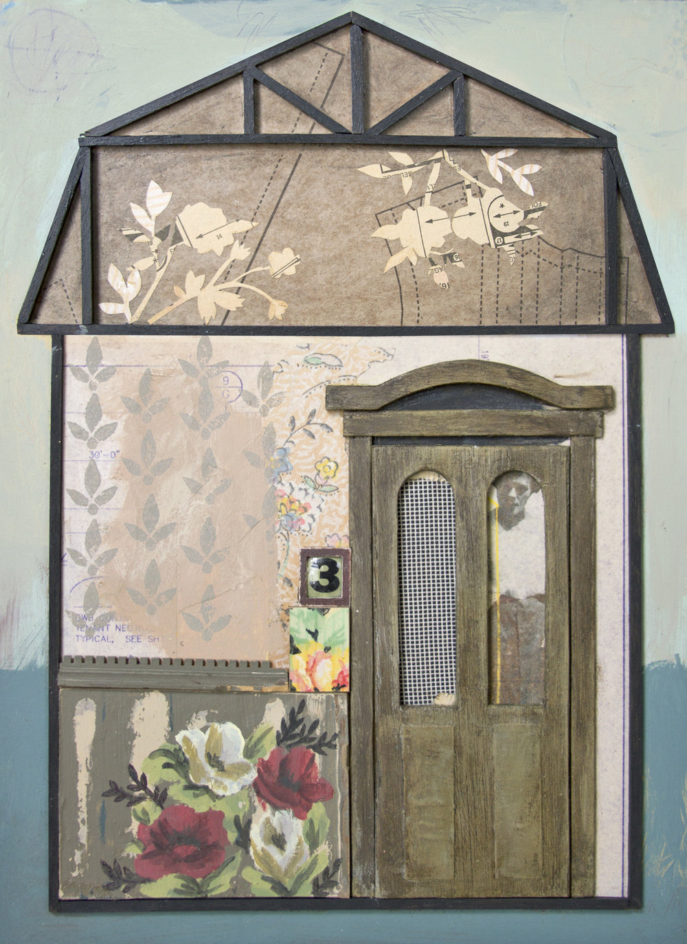 Chelsea Revelle,  Mrs. Russel: Playing House Series,  Assemblage, 15.5x12