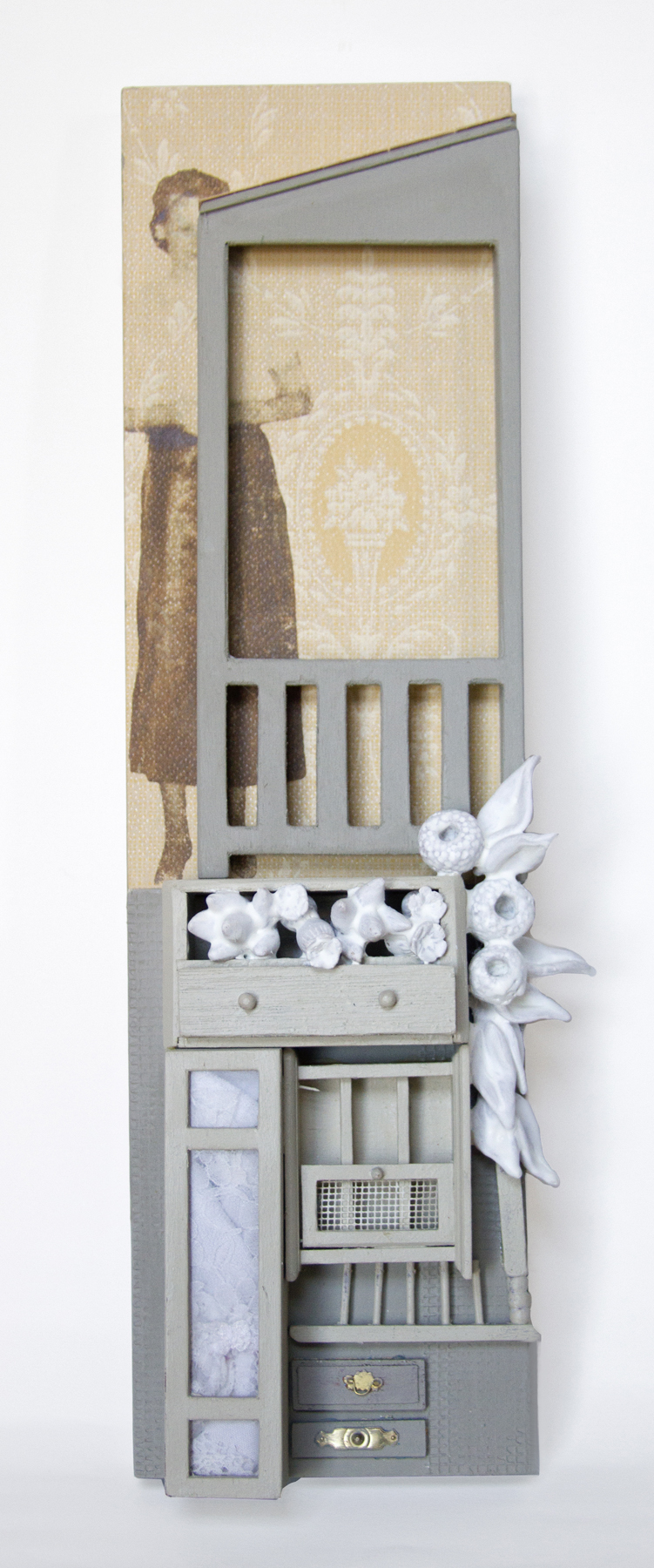Chelsea Revelle,  Spengler: Hidden Mother Series,  Assemblage, 16x4.5x2.5