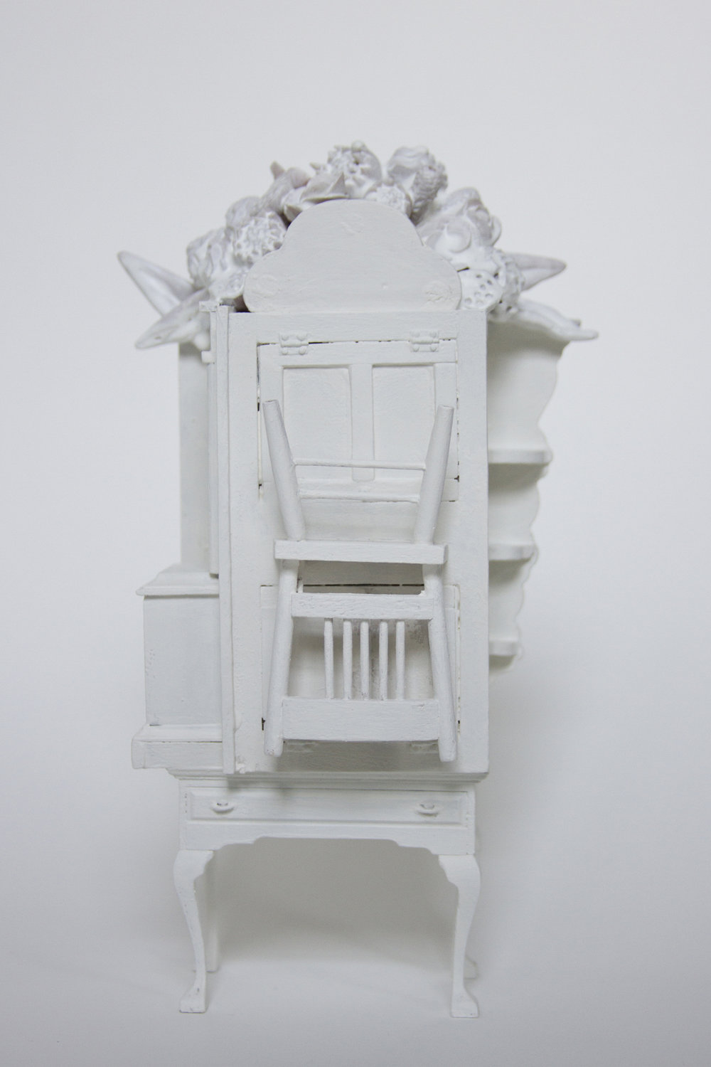 Chelsea Revelle,  Through the Keyhole: Fragility of Silence Series,  Dollhouse assemblage, 8x4.5x2
