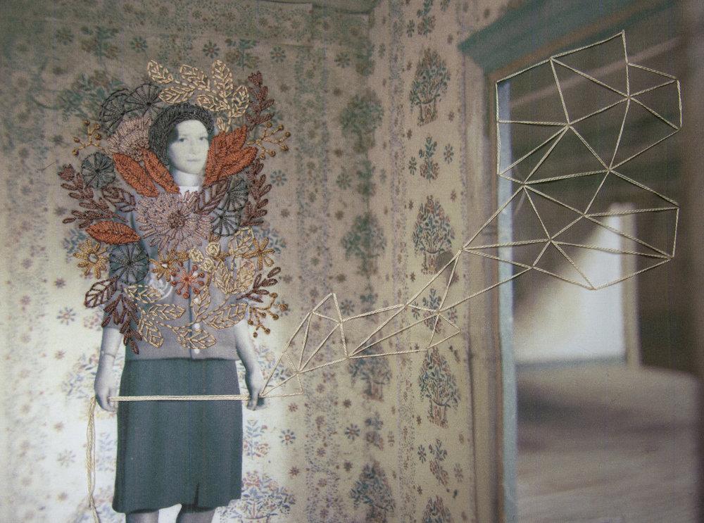 Chelsea Revelle,  Trudie, Fiber art, 17x14