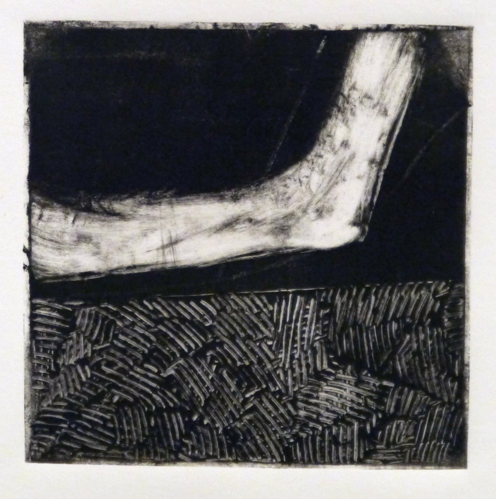 Kathline Carr,  Landform Series #1,  Monotype, 10x10 framed