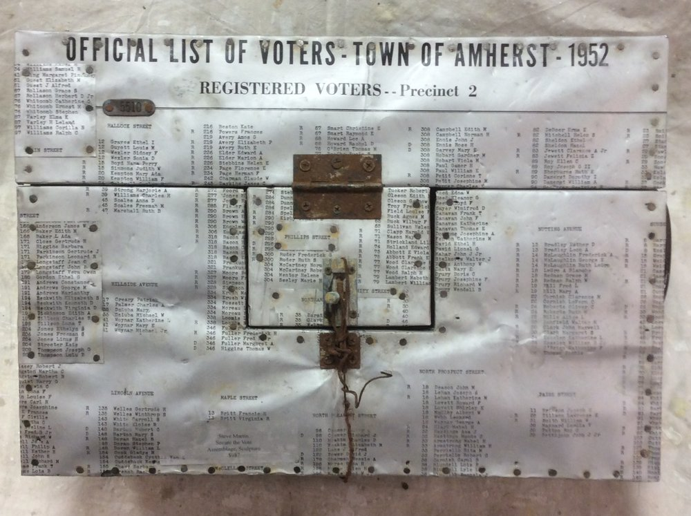 "Stephen Martin,  Secure the Vote,  assemblage, 24"" x 18"""