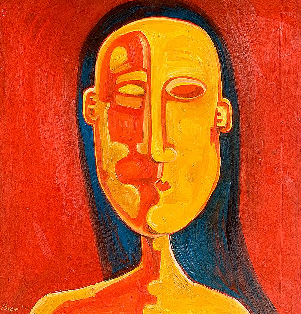 """Sorin Bica,  Mia Gioconda  , oil on canvas, 48"""" x 48"""""""