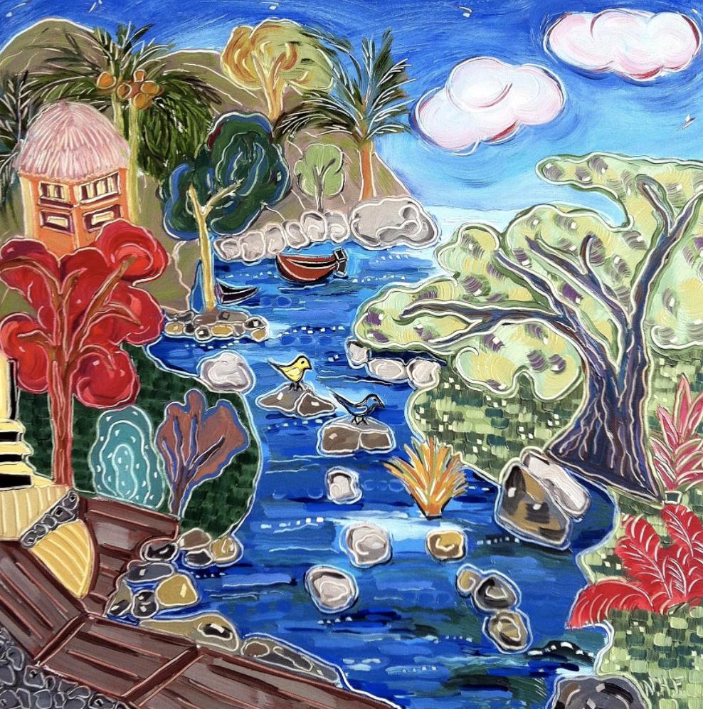 """""""Two Birds in Boca Bay"""" by Nan Hass Feldman"""