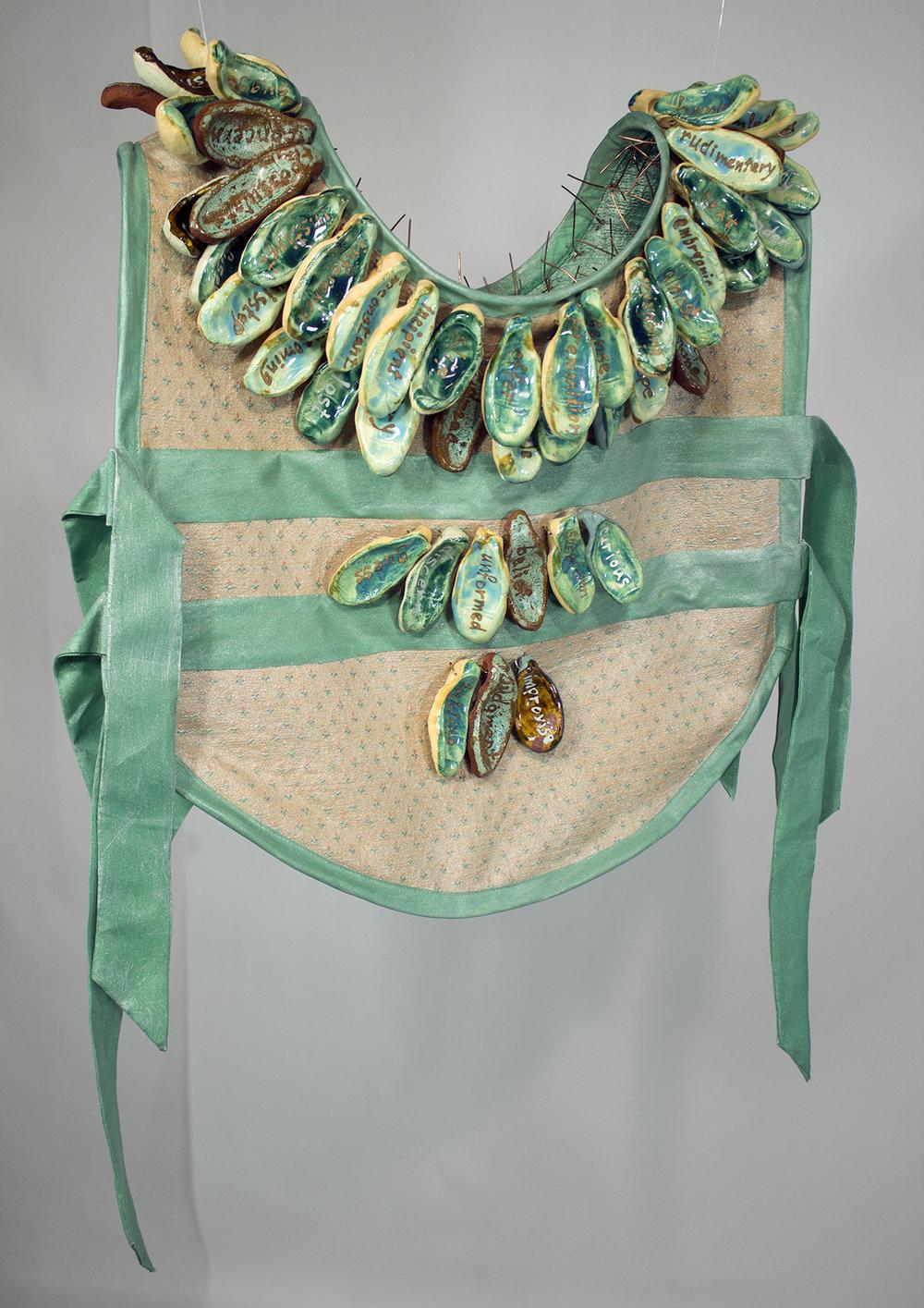 Safety Vest 2 , ceramic, fiber, steel, copper, and acrylic
