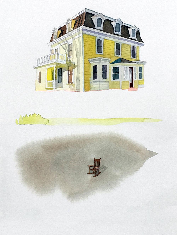 Sit , watercolor