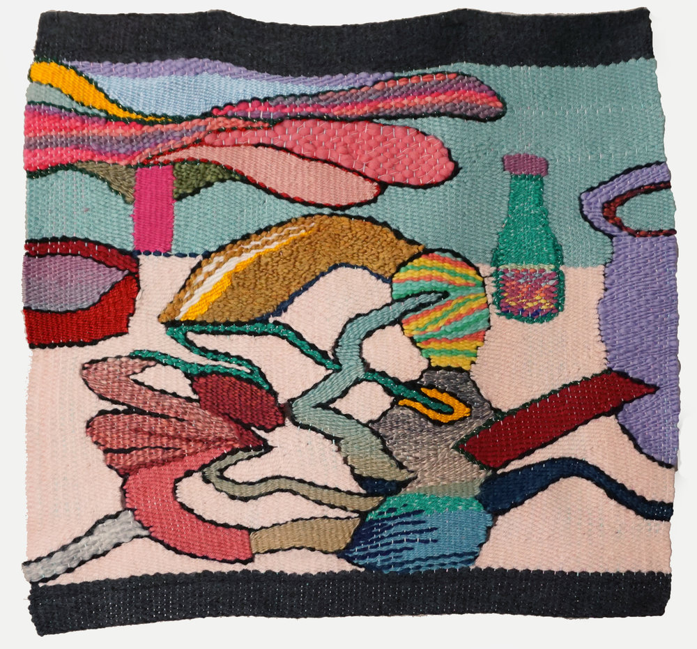 """Tablescape ,tapestry (yarn), 20"""" x 18"""""""