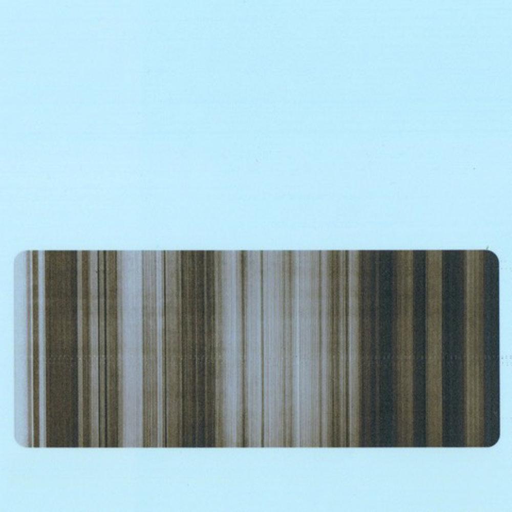 "Broken Television 29 (on blue) , ink on drafting film w/digital inkjet, 5"" x 5"""