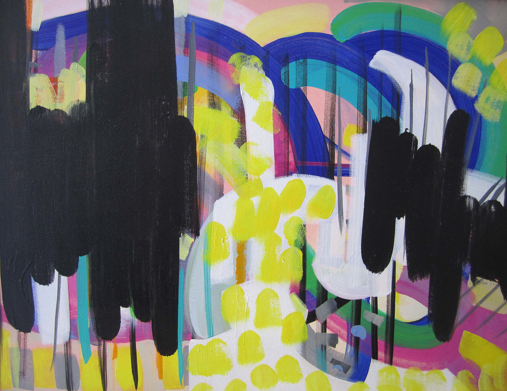 "Beyond The Gates , acrylic on canvas, 18"" x 24"""