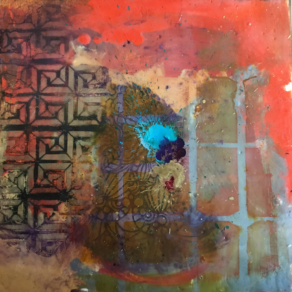 Mary Marley,  Resolution ,   Encaustic Paint