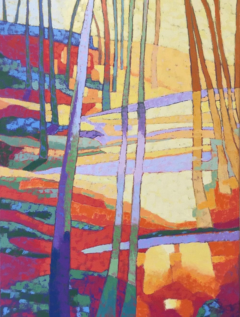 "Light Promenade , oil on canvas, 30"" x 24"""