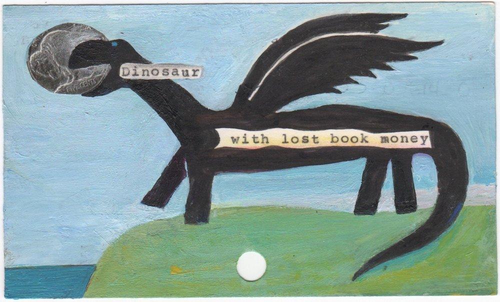 Moskowitz_Dinosaur with lost book money.jpeg