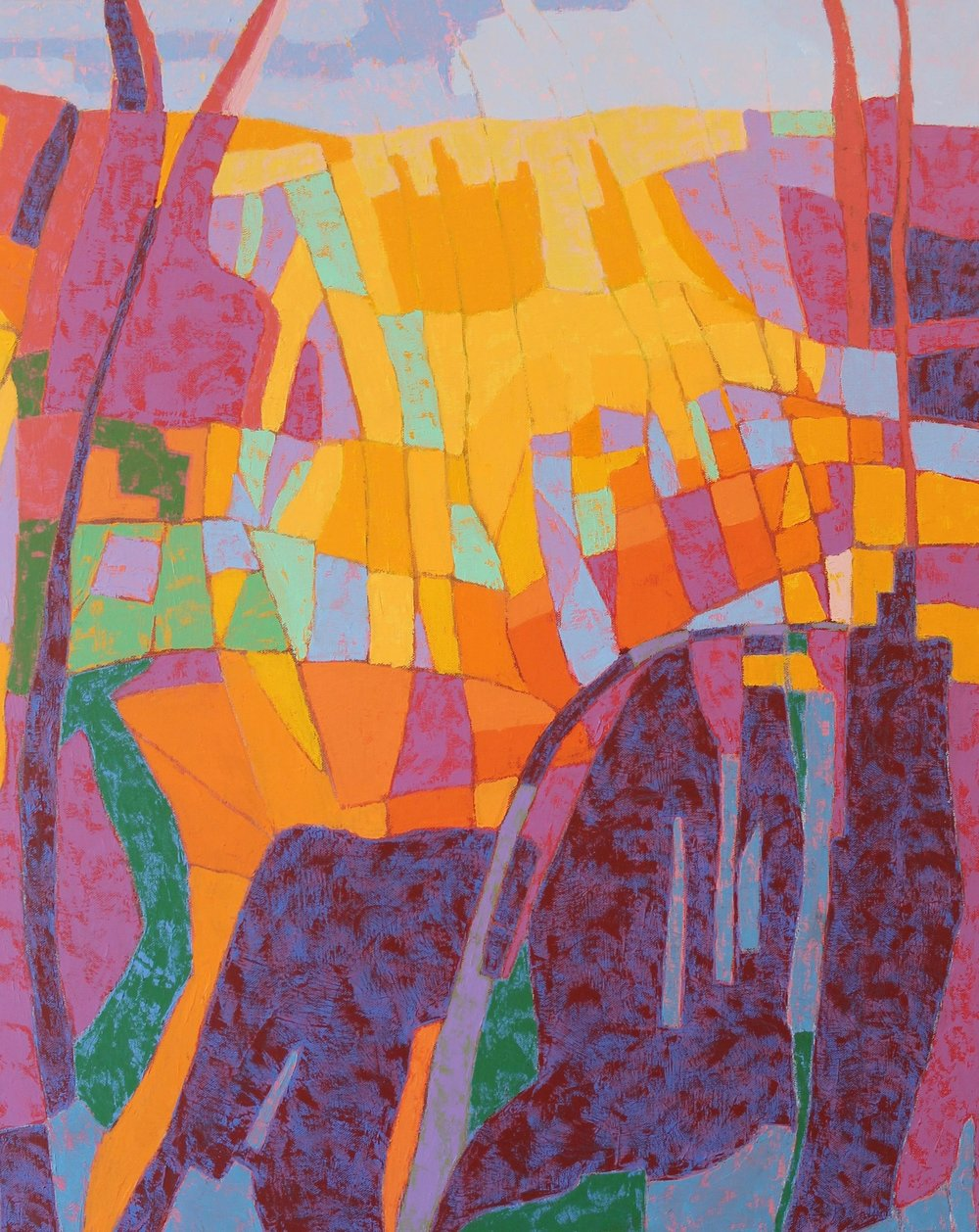 """Canyon Song"" (detail) by Marcia R. Wise"