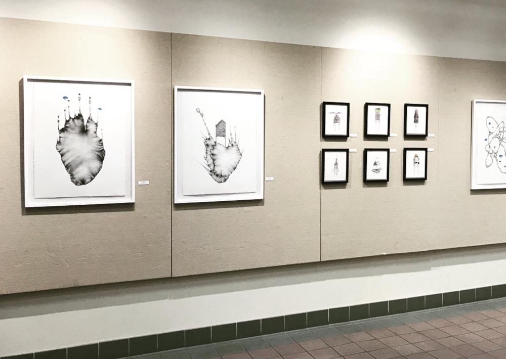 Installation view of Tatiana Flis' work in  Three Draw.