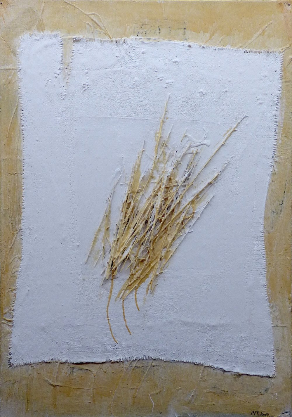 Paola Bidinelli,  Sentimental Tangle , Mixed media on canvas, 28x39