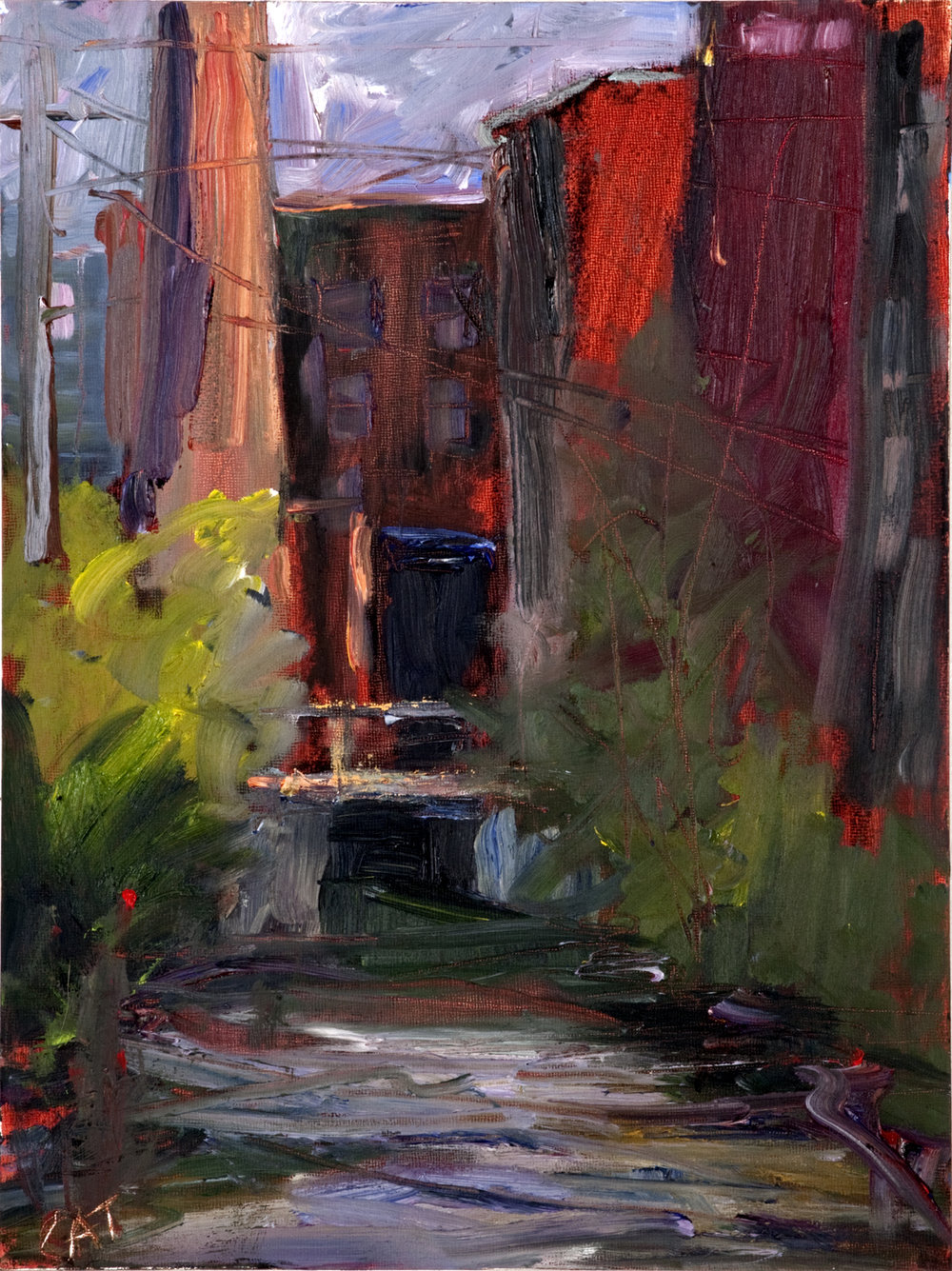 Catherine Gibbs,  Studio Canal , Oil on board, 9x12