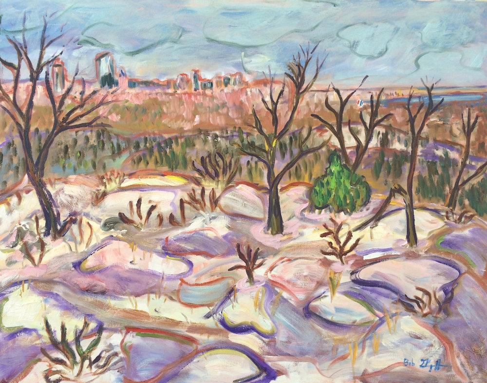 Bob Grignaffini,  Blue Hills , Acrylic, 24x30