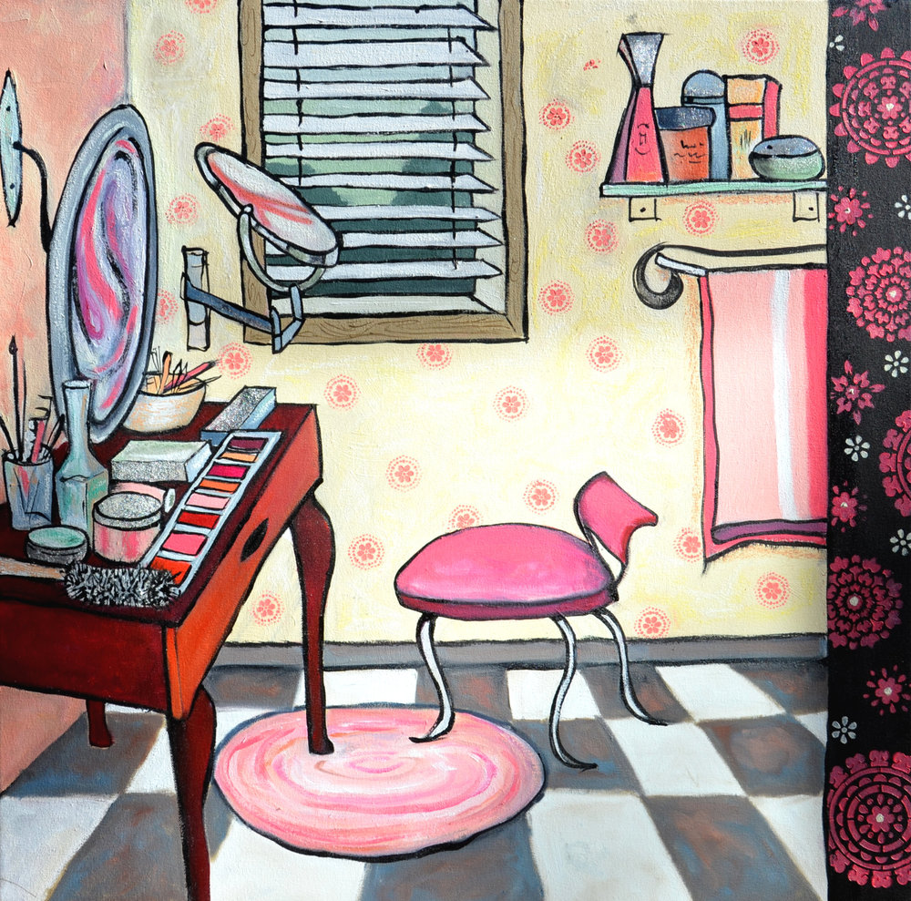 Anita Loomis,  Alchemy , oil on canvas, 30x30