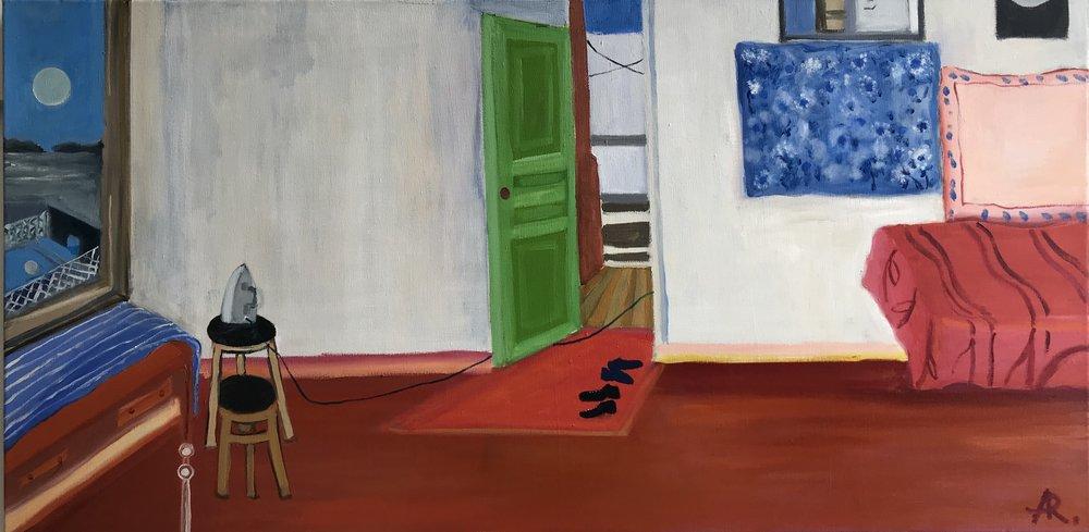 Alexandra Rozenman,  Before Bella's Birthday , Oil on canvas, 48x24