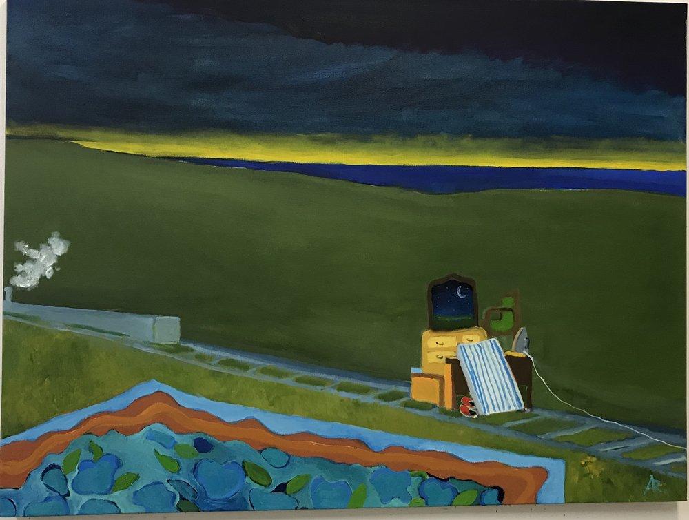 Alexandra Rozenman,  Forgotten Bedroom , Oil on canvas, 50x46