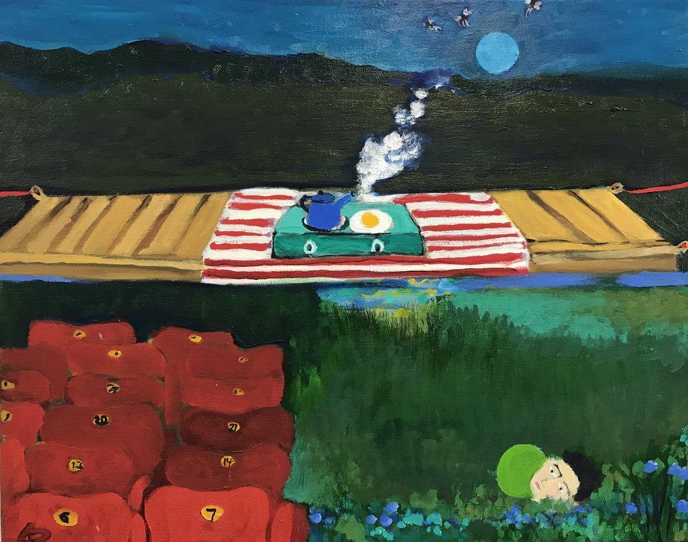Alexandra Rozenman,  Intermission , Oil on canvas, 20x16
