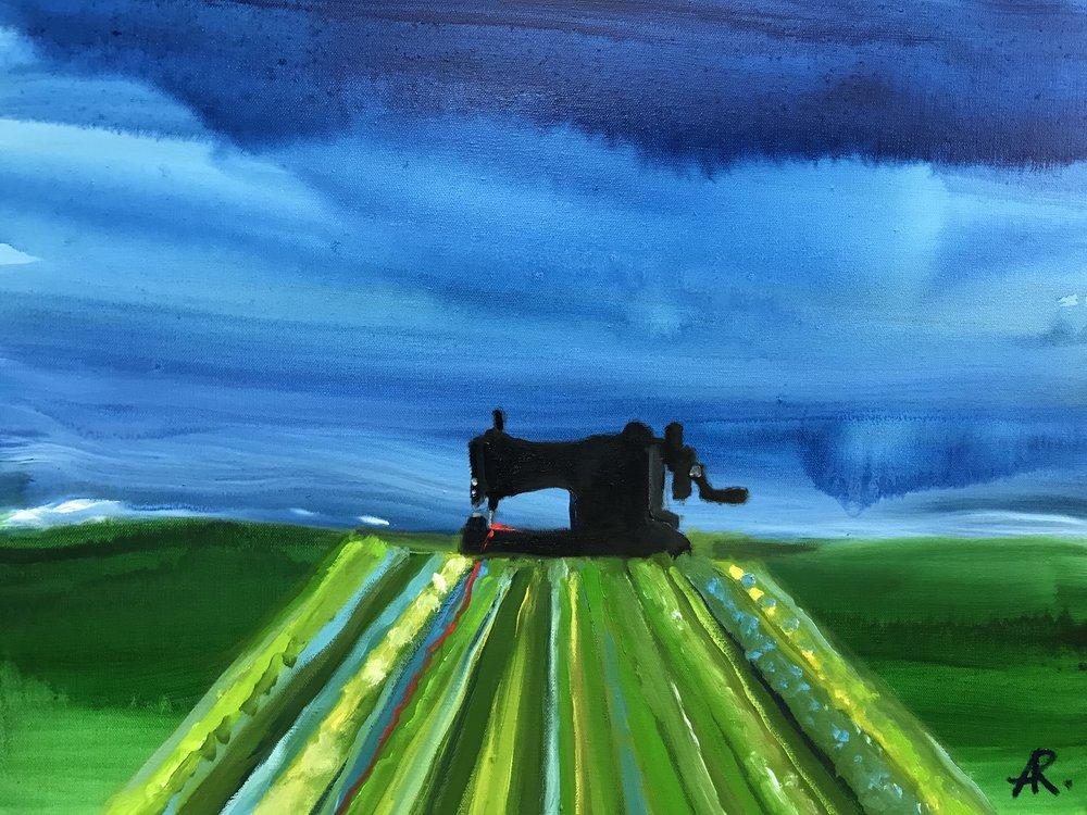 Alexandra Rozenman,  The Invisible Thread , Oil on canvas, 28x24