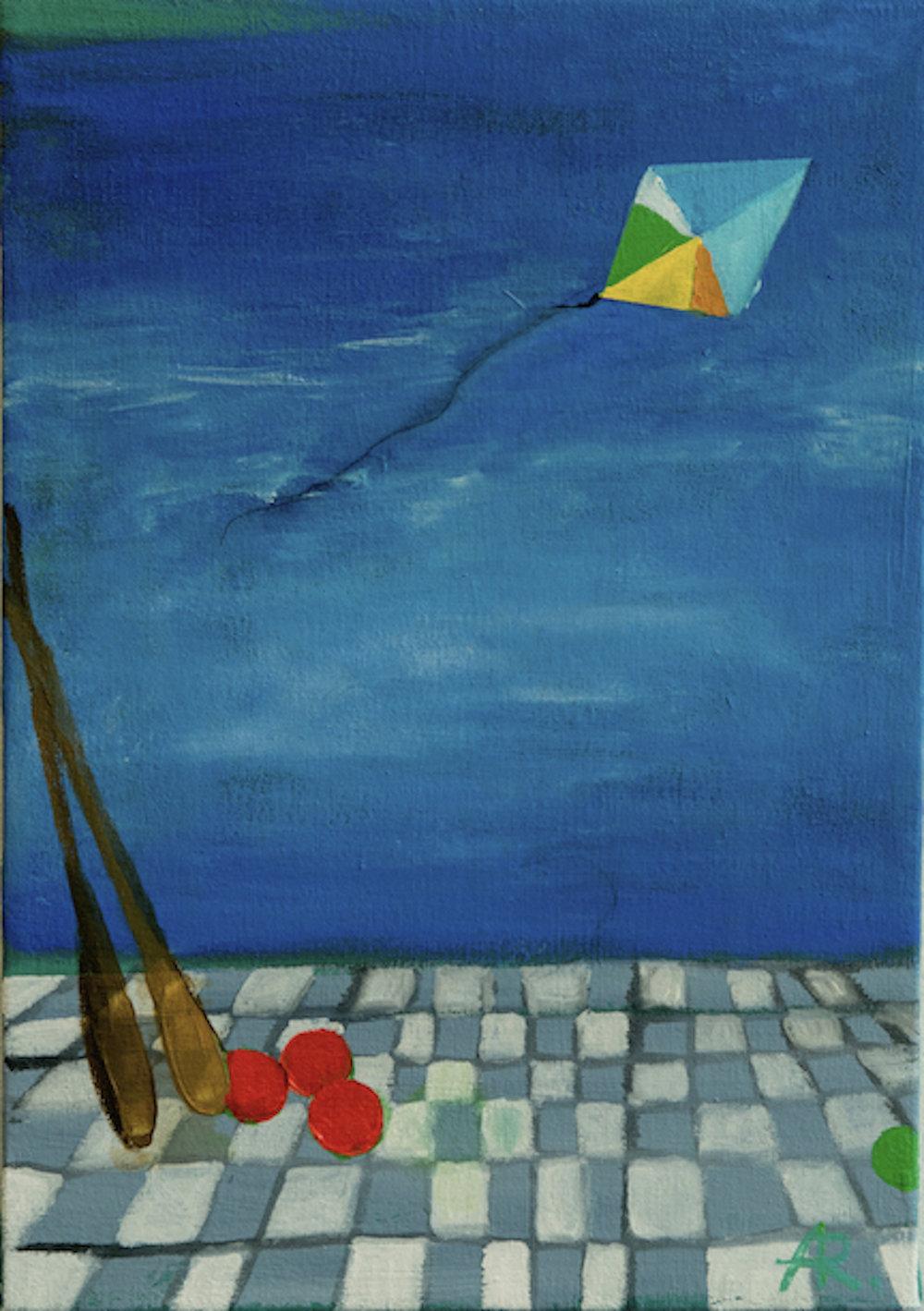 Alexandra Rozenman,  Three Ways to Travel , Oil on canvas, 10x14