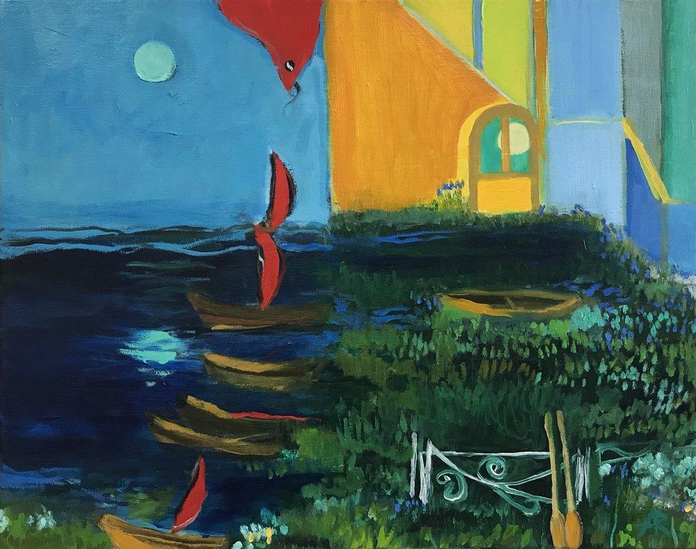 Alexandra Rozenman,  Silence , Oil on canvas, 20x16